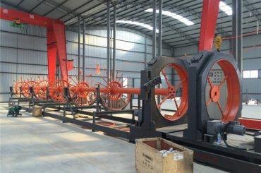 uso de acero del soldador de la costura del rollo de la máquina de soldadura de la jaula del acero del CNC para construir