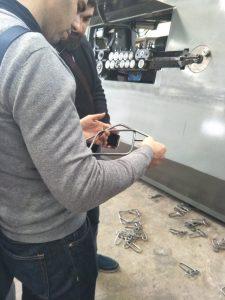 Visita al cliente de fábrica